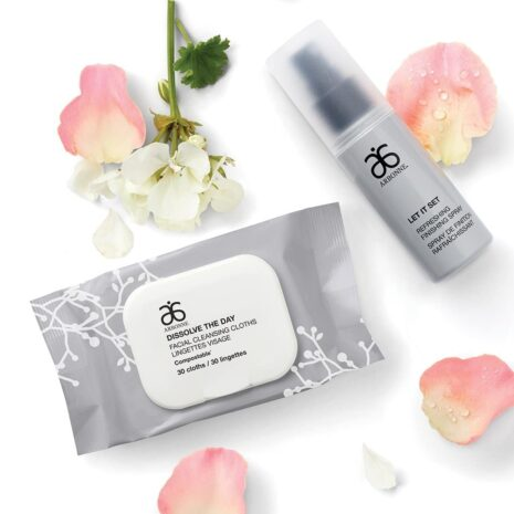 Arbonne_Makeup_Let_It_Set_Refreshing_Finishing_Spray_Dissolve_the_Day_Facial_Cleansing_Cloths_social_image